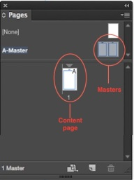 InDesign Pages Panel Screenshot
